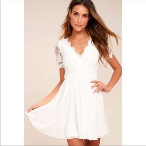 NWT Lulu's Angel in Disguise Lace Skater Dress
